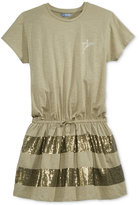 GUESS Sequin-Trim T-Shirt Dress, Big Girls (7-16)