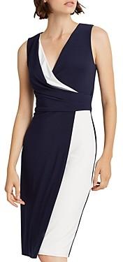 Ralph Lauren Ralph Two-Tone Crossover V-Neck Dress