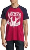 True Religion Printed Raglan-Sleeve Cotton Tee