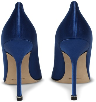 Manolo Blahnik Hangisi Silk Pumps, Blue