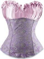 Charmian Women's Renaissance Bustier Wedding Bridal Top Lace Up Overbust Corset
