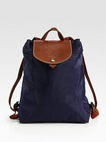 Longchamp Les Pliages Zippered Backpack, Navy
