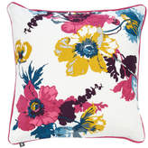 Joules Printed Cushion - Cream Poppy Posy