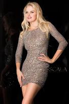 Scala 48605 Dress In Lead Silver