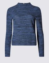 Marks and Spencer Spacedye Funnel Neck Sweatshirt