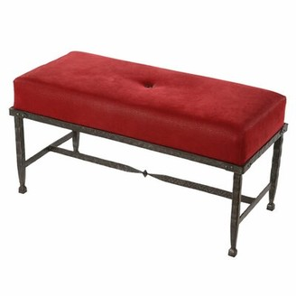 Loon Peak Roybal Faux Leather Bench