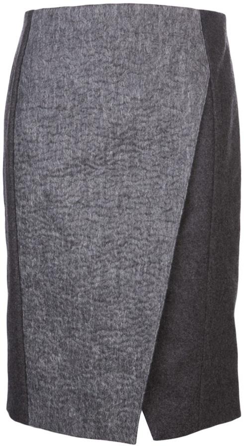 Neil Barrett asymmetrical slit skirt