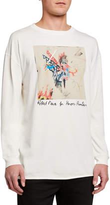 Heron Preston Men's Graffiti Sketch Print Long-Sleeve T-Shirt