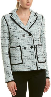 St. John Wool-Blend Silk-Lined Jacket