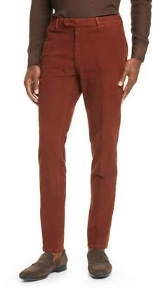 Boglioli Flat Front Stretch Cotton Blend Corduroy Dress Pants