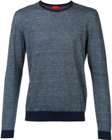 Isaia crew neck jumper - men - Cotton/Linen/Flax - M