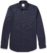 Paul Smith Slim-fit Aeroplane-printed Cotton-poplin Shirt - Navy