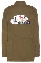Saint Laurent Love cotton-blend twill jacket