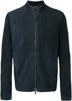 Giorgio Armani zipped jacket - men - Linen/Flax/Goat Skin/Acetate/Viscose - 50