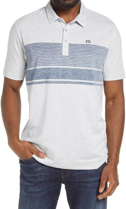 Travis Mathew Side Pipe Slim Fit Short Sleeve Polo