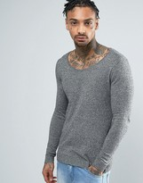 Asos Extreme Muscle Fit Scoop Neck Sweater