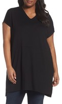 Eileen Fisher Plus Size Women's Jersey V-Neck Tunic