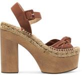 Paloma Barceló Lola Knotted Leather Platform Sandals