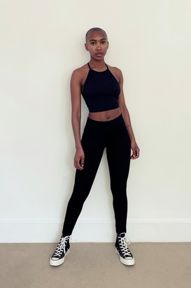 Topshop Womens Black Sports Stitch Trousers - Black