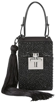 Oscar de la Renta Alibi Beaded Top Handle Box Bag