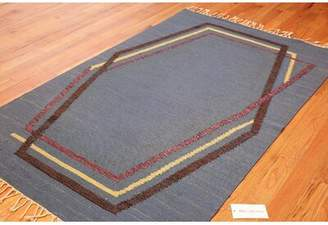 Brita Nazmiyal Collection Swedish Vintage Kilim Grahn Gray/Brown Area Rug Nazmiyal Collection