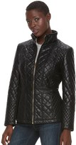 Gallery Women's Quilted Faux-Leather Jacket