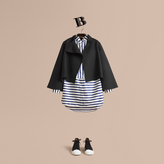 Burberry Bell-sleeve Double-faced Wool Jacket