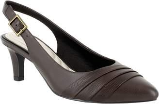 Easy Street Shoes Dress Heel Slingback Pumps - Baker
