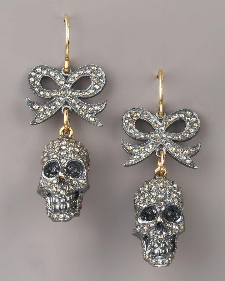 Jessica Kagan Cushman Bow & Skull Earrings