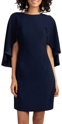 Trina Turk Cape-Sleeve Sheath Dress