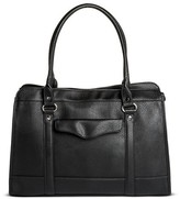 Merona Women's Solid Tote Faux Leather Handbag Black