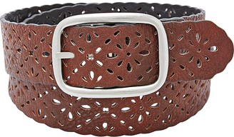 Relics Womens Reversible Floral Perforated Belt