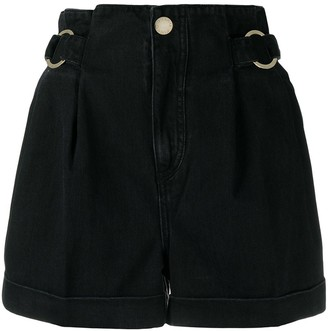 Pinko High Rise Denim Shorts