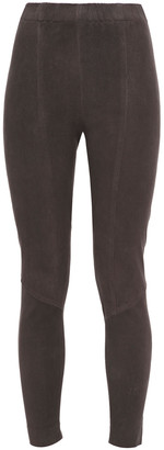 Gentryportofino Cropped Stretch-suede Leggings