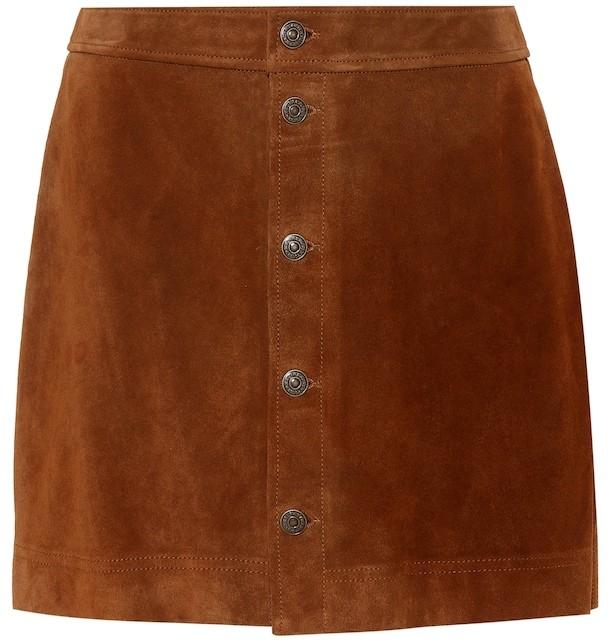 Polo Ralph Lauren Suede miniskirt