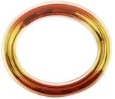 Gucci Runway Yellow & Orange Metal Clear Plexiglass Bangle Bracelet