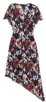 Anna Sui Birds And Roses Printed Silk-chiffon Dress