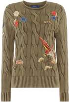 Polo Ralph Lauren Boxy Roll Neck Jumper with embroidery detail