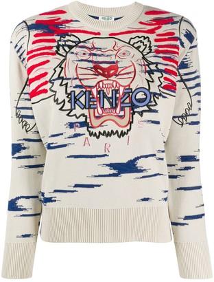 Kenzo Tiger embroidered jumper