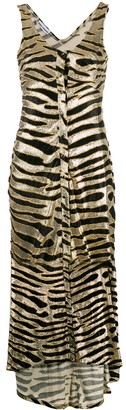Paco Rabanne Metallic Animal Pattern Dress