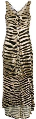 Paco Rabanne metallic animal pattern dress