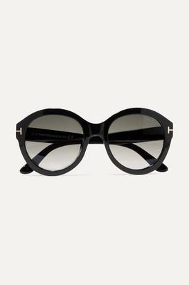 Tom Ford Kelly Round-frame Acetate Sunglasses - Black