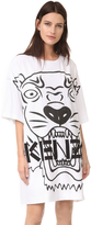 Kenzo Crepe Back Satin Tiger Dress