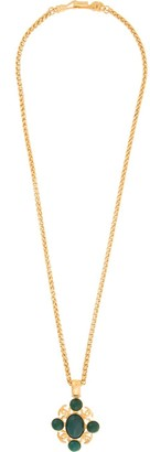 Chanel Pre-Owned stone logo long necklace
