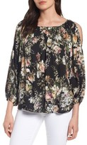 Velvet by Graham & Spencer Women's Cold Shoulder Vintage Floral Blosue