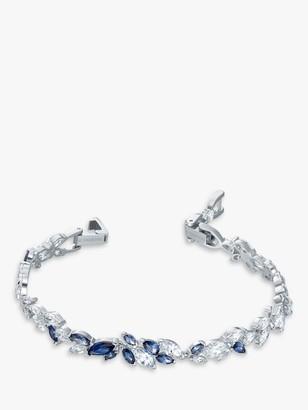 Swarovski Louison Marquise Crystal Bracelet, Silver/Blue