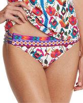 Nanette Lepore Antigua Charmer Strappy-Side Swim Bottom, Multi