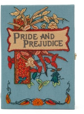 Olympia Le-Tan Pride And Prejudice Embroidered Book Clutch - Blue Multi