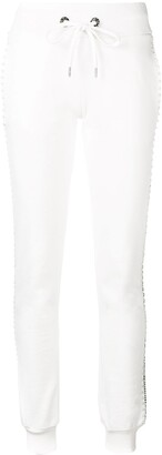 Philipp Plein Embellished Side Stripe Track Trousers