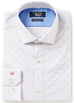 Original Penguin Heritage Slim-Fit Spread-Collar Check Dobby Dotted Dress Shirt